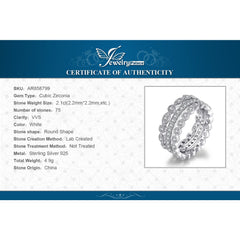 Pure Silver Eternity Band Rings