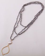 Shell Knotted Long Necklace