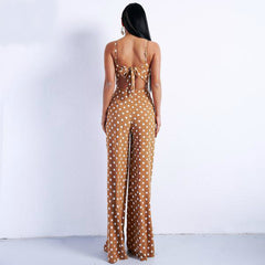 Polka Dot Jumpsuit, Jumpsuits - Bohemian Bliss Boutique