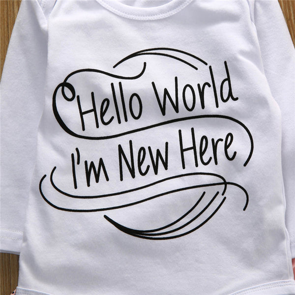 Bohemian Bliss Boutique,Hello World I'm New Here Set,Childrens,Made in China - Small store