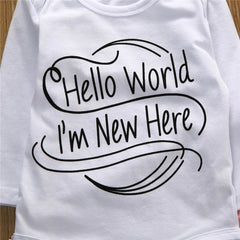 Hello World I'm New Here Set, Childrens - Bohemian Bliss Boutique