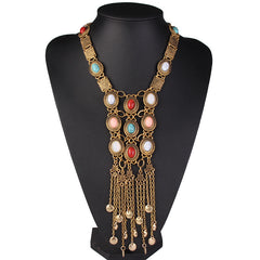 Vintage Bohemian Tassel Long Necklaces, Necklaces - Bohemian Bliss Boutique