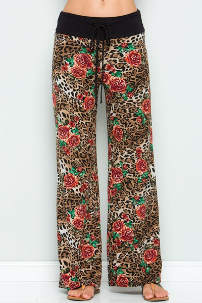 Bohemian Bliss Boutique,Leopard Print Lounge Pants,Bottoms,Sweet Lovely
