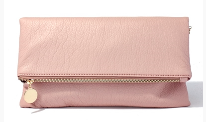 Pink Fold Over Clutch - Bohemian Bliss