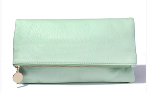 Bohemian Bliss Boutique,Mint Fold Over Clutch,Handbags,Bohemian Bliss