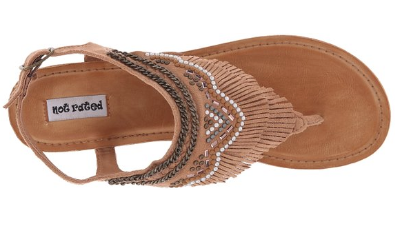 Bohemian Bliss Boutique,Tan Fringe/Studded Style Sandal,Shoes,Not Rated