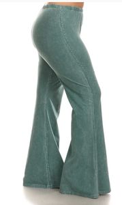 Bohemian Bliss Boutique,Emerald Bellbottom Leggings (PLUS),Plus Bottoms,Chatoyant