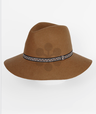 Wool Fedora Hat w/ Tribal Band - Bohemian Bliss