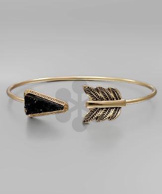 Arrow w/Black Druzy Cuff - Bohemian Bliss