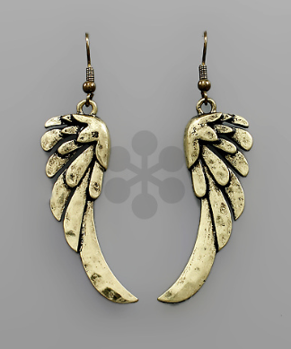 Gold Wing Earrings - Bohemian Bliss
