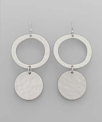 Silver Ring & Circle Earrings - Bohemian Bliss