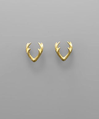 Antler Stud Earrings - Bohemian Bliss