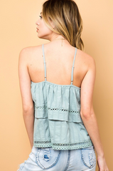 Linz Layered Halter Top, Tops - Bohemian Bliss Boutique