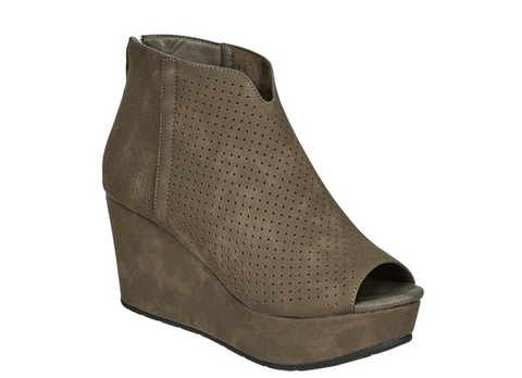 Pierre Dumas Perforated Bootie Wedge
