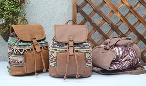 Boho Canvas Backpack