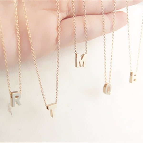 Bohemian Bliss Boutique,Tiny Initial Necklace,Necklaces,ZUOMASHI Official Store