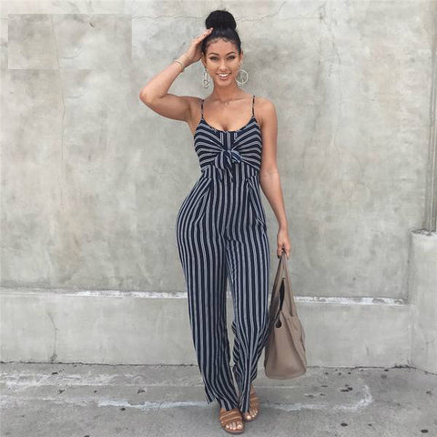 Bohemian Bliss Boutique,Stacy Striped Wide Leg Jumpsuit,Jumpsuits,A Lx Store
