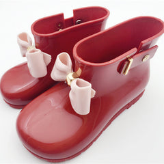 Kids Rainboots with Bow, Childrens - Bohemian Bliss Boutique