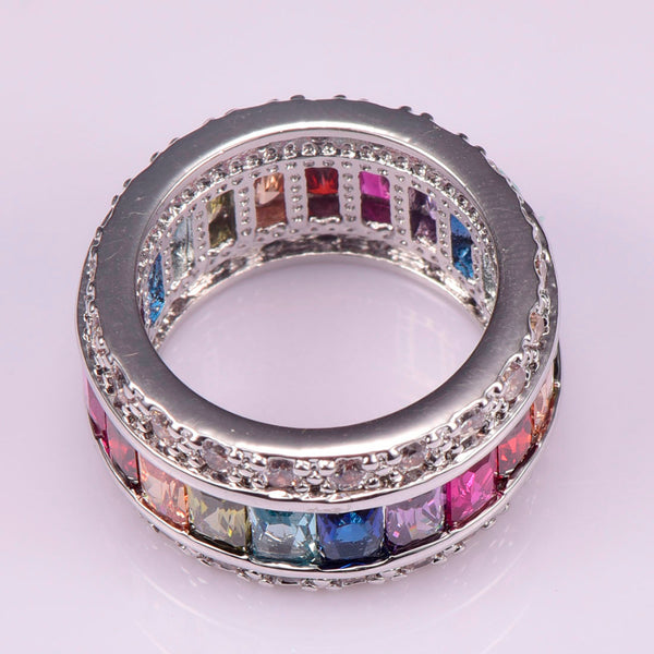 Bohemian Bliss Boutique,Sterling-Silver & Crystal Ring,Rings,Weina