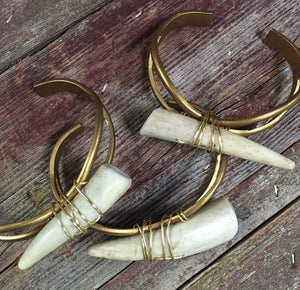 Bohemian Bliss Boutique,Deer Antler Cuff,Cuff,Bohemian Bliss