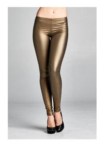 Bohemian Bliss Boutique,Gold Latex Leggings,Bottoms,Bohemian Bliss
