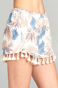 Palm Beach Shorts, Bottoms - Bohemian Bliss Boutique