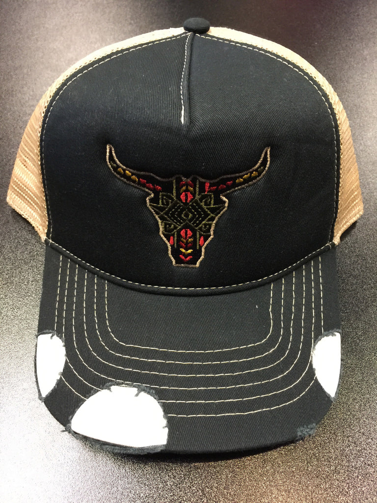 Bull by the Horns Trucker Hat, Hats - Bohemian Bliss Boutique
