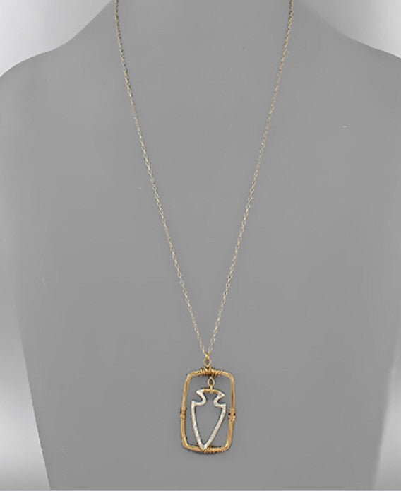 Arrowhead Gold Necklace - Bohemian Bliss