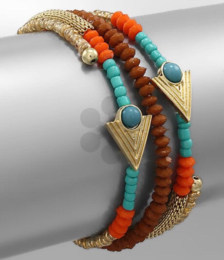 Arrow Coiled Bracelet - Bohemian Bliss