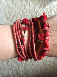 Bohemian Bliss Boutique,Red Coral Magnetic Bracelet,Bracelets,Bohemian Bliss