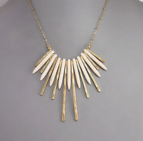 Ivory Spike Necklace - Bohemian Bliss
