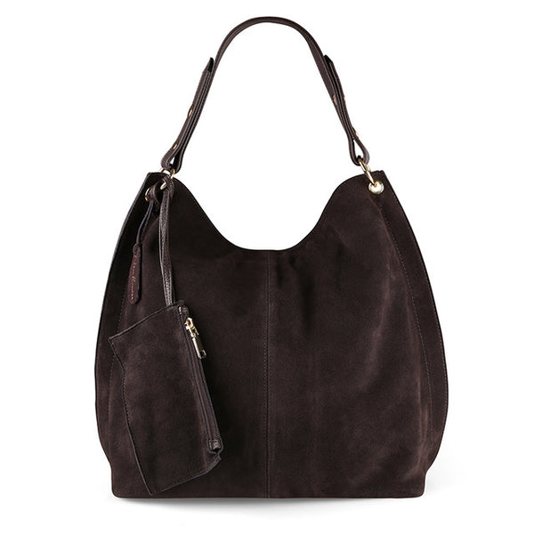 Bohemian Bliss Boutique,Suede Leather Hobo Bag,Handbags,Choir