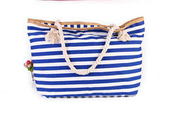 Striped Shoulder Beach Bag