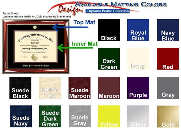Certificate College Diploma Frame Matting Colors