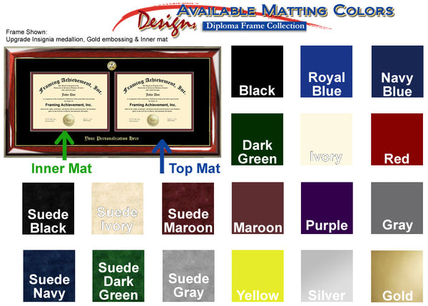 Horizontal Double Diploma Frame Double Certificate Plaque