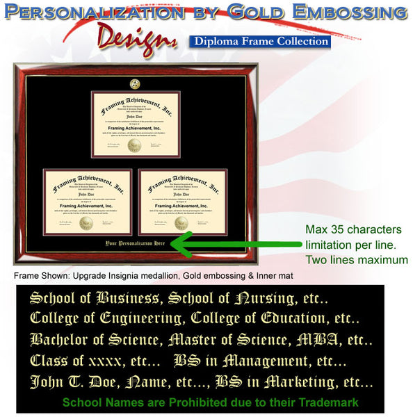 Embossed Triple Degree Frame