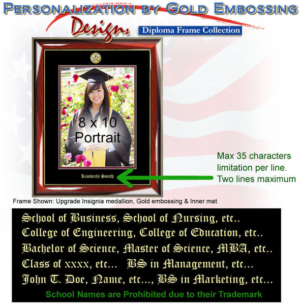 Gold Embossed Graduation College Picture Frame Seal