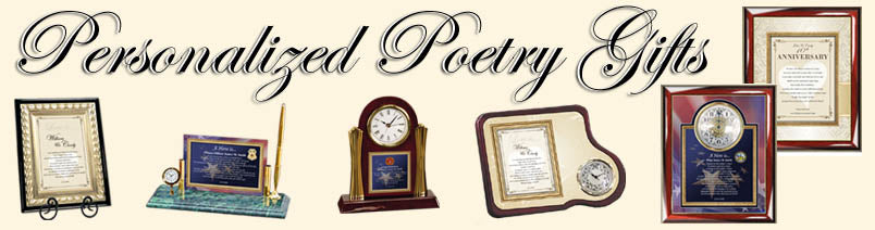 Poetry Gift Clocks and Frames