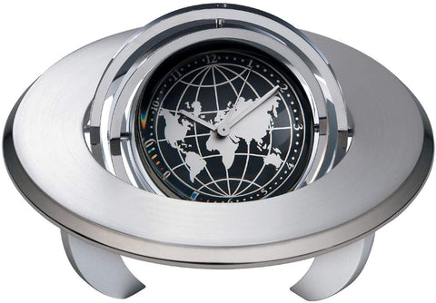 Spinning Globe Planet Clock with Personalization or Frame That Holds 1 7/8 Diameter Photo or Message Unique Retirement Gift, Employee Recognition or Service Award