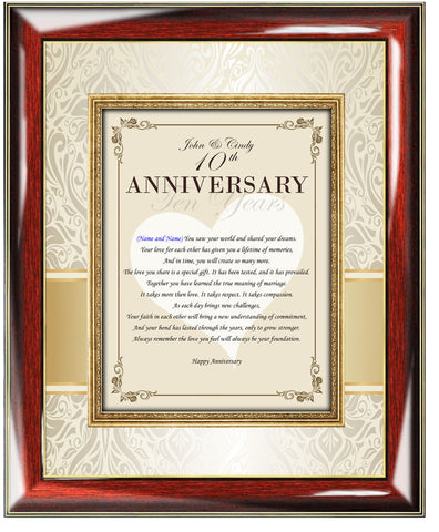 Anniversary Poem Plaque Frame Gift