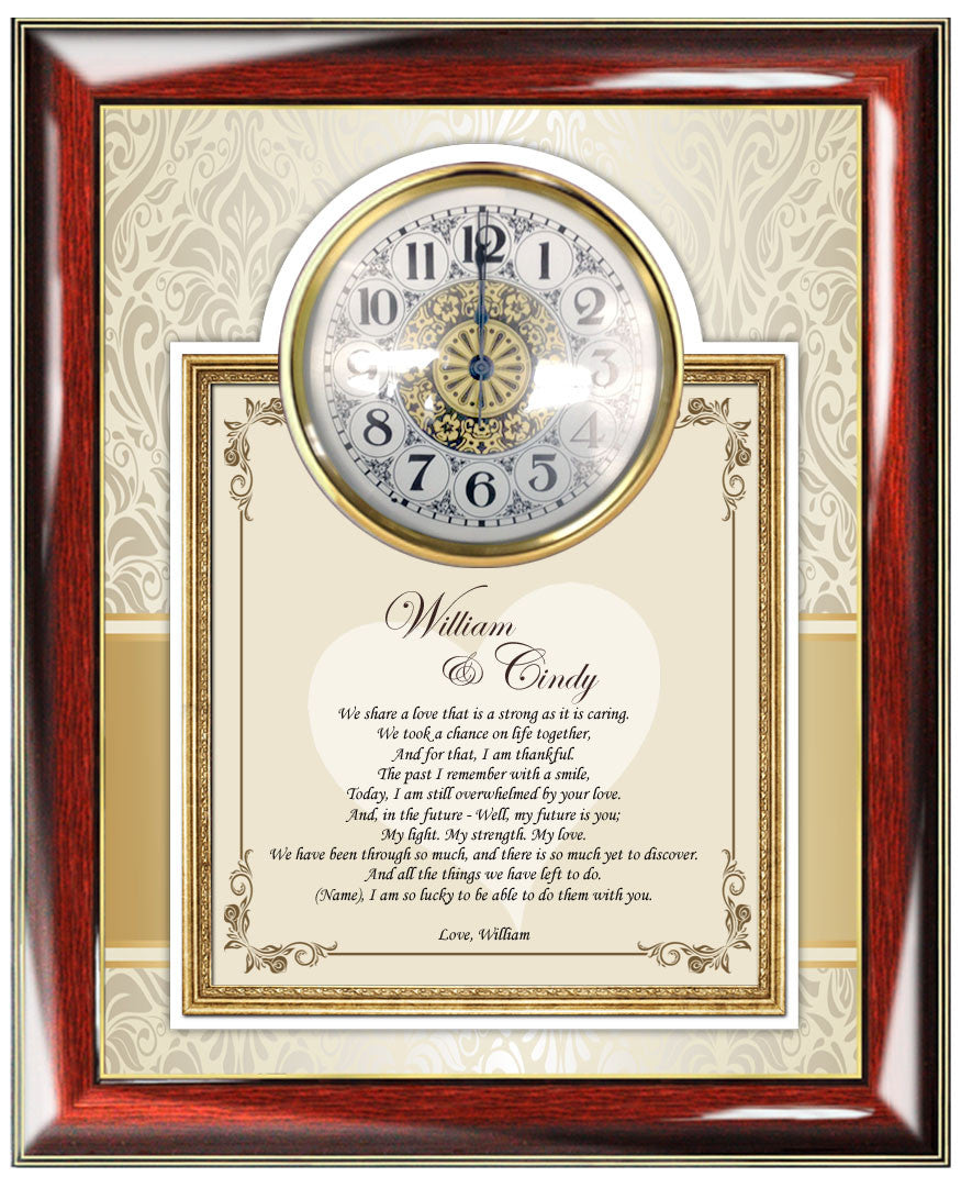 Romantic Love Poetry Clock Frame