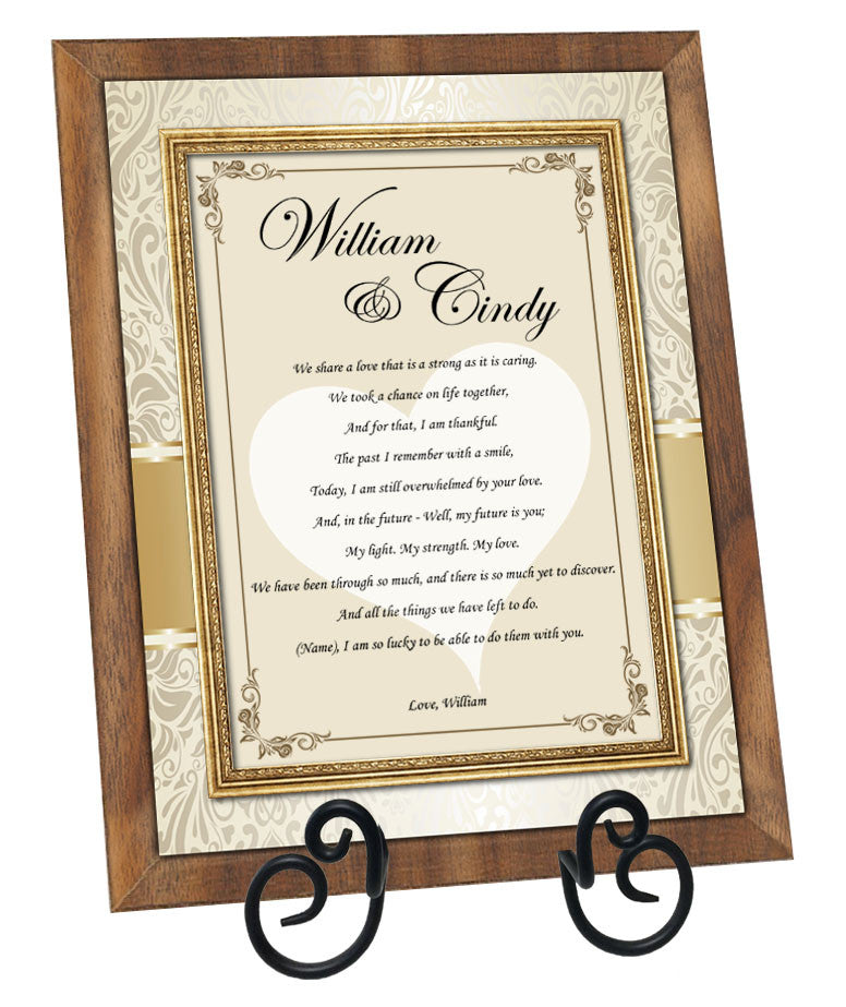 valentine romance gifts presents poetry love poem personalized plaque