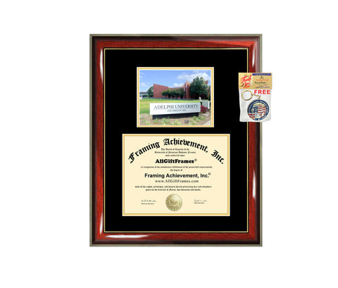 Adelphi University diploma frame certificate Adelphi degree frames framing gift graduation plaque campus document graduate alumni