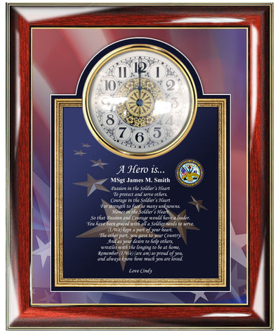 United States Army Photo Frame Clock Military Gift