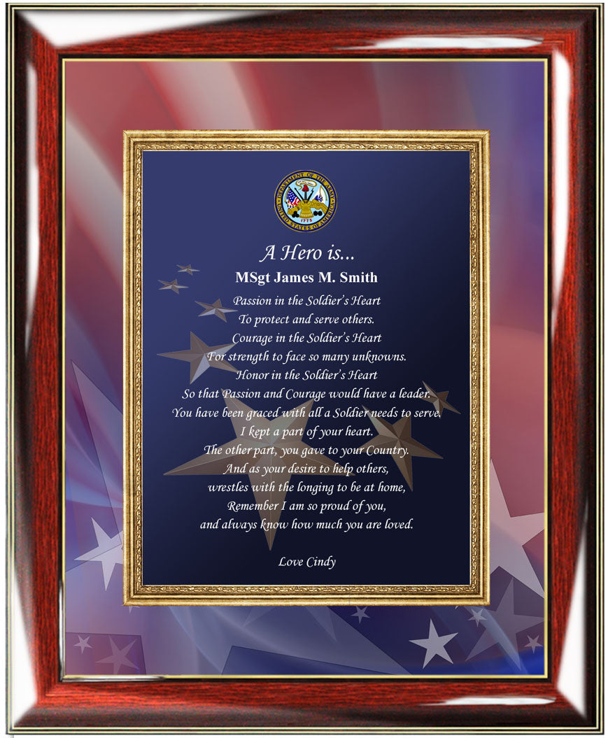 Personalized United States Army Picture Frame Photo Plaque Birthday