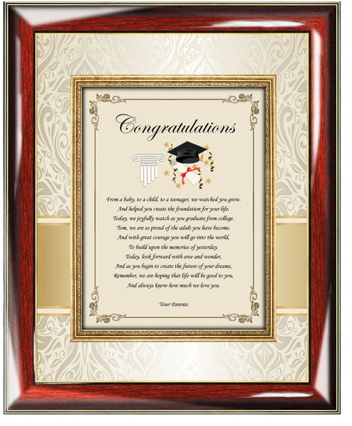 College Or High School Graduation Gift For Son Or Daughter