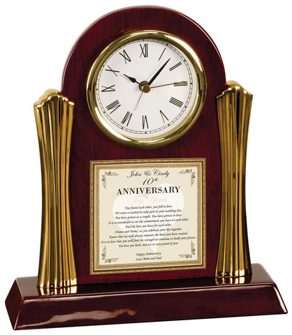 Wedding Anniversary Clock Gift Daughter or Son Parents