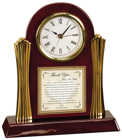 Daughter Gift Clock for Parent Thank You Wedding Present