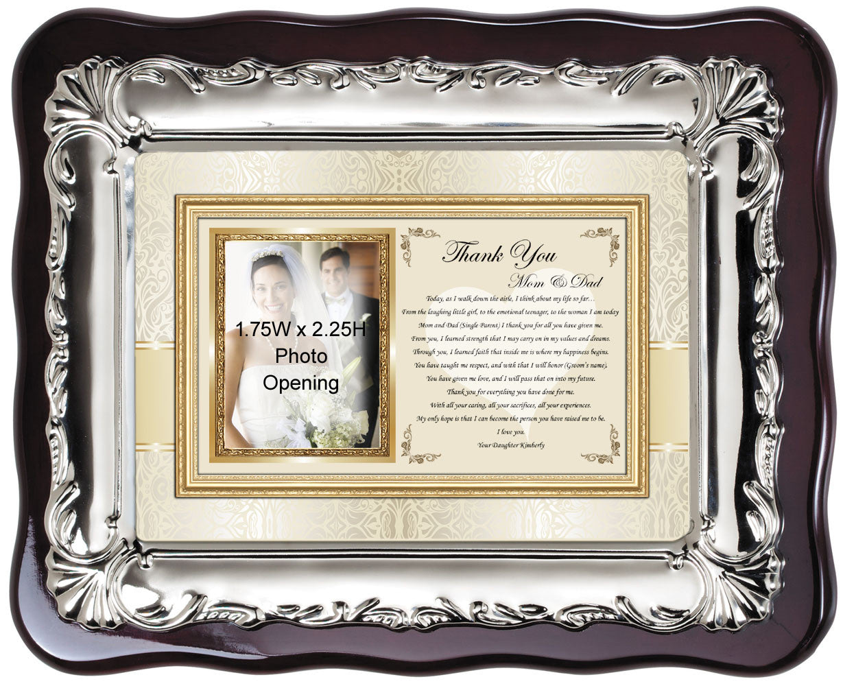 Wedding Thank You Gift Personalized Picture Frame Parents From Bride