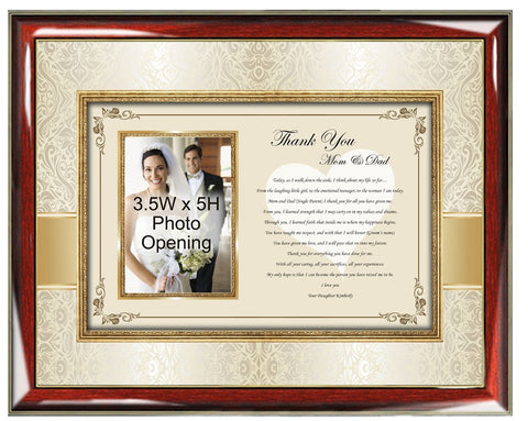 parents thank you wedding frame